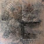 2015 Ohne Titel Acryl auf Leinwand 100x100 cm