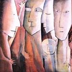 2000 Erleuchtung durch Selbstfindung (Hommage an Alice Miller) Acryl auf Leinwand 100x100 cm