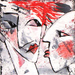 2008 Ohne Titel Acryl auf Leinwand 30x30 cm