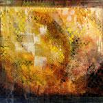 2006 In einer Ecke gold Acryl auf Leinwand 100x120 cm