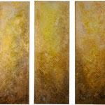2019 MEMENTO Acryl-Struktur-Paste-Granulat-Sand auf Leinwand 120x120 cm.