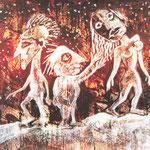 2007 Nachtwanderer Acryl auf Leinwand 40x40 cm