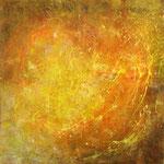 2008 Zuversicht (3) Acryl-Strukturpaste auf Leinwand 120x120 cm