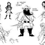 Characterdesign Piratenbande