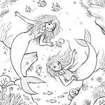 Ausmalbild 5_Meermädchen