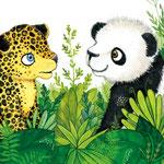 """Illustration aus """"Ein Panda in der Dschungelschule"""", erschienen beim Loewe Verlag (siehe Kinderbücher), Im Buchhandel erhältlich"""