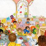 """Illustration aus """"Paffi, ein kleiner Drache in der Schule"""" (siehe Kinderbücher), im Buchhandel erhältlich"""