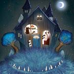 Rückseiten-Illustration des Monster-Freundebuches vom Loewe-Verlag (siehe Kinderbücher), im Buchhandel erhältlich