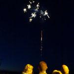 auch ein Feuerwerk haben wir anlässlich des Polterabends bekommen