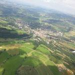 Blick über Gersfeld, im Vordergrund das Rodenbacher Köpfchen