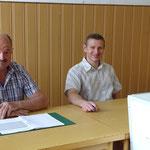 Waldemar Niebling und ich als Wahlhelfer bei der Europawahl am 25.05.2014