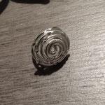 Bague Aluminium  argenté ciselé 5€