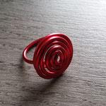 Bague  Aluminium rouge 5€