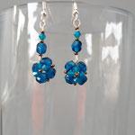 Boucles d'oreilles cristal Sapphire   12€