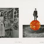 "Onward and Upward, collage, 11"" x 15"", 2016"