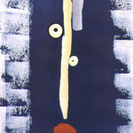 Photogramme, cyanotype aquarellé,  épreuve unique, 1999.  H57 x L38 cm © Annick Maroussy  -  Papier   BFK Rives.