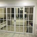 двери раздвижные белая классика