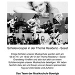 Musikschule Schüler - Konzert - Thomä Residenz 59494 Soest