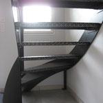 Escalier métal a Dinan