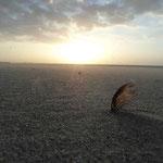 Cała  plaża w Ustce nabiera innego wyglądu w czasie zachodu słońca.