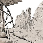 Different ways to draw mountains