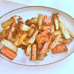 Gegrilde wortel, pastinaakmix met verse gember en kurkuma