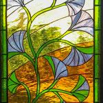 Panneau floral porte de pavillon