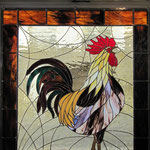 Coq (boucherie Grisel à Saint-Leu d'Esserent)-Intérieur jour