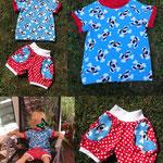 Raglan-Shirt Summer Rockers und Hose Marina mit kostenlosem Schnittmuster und Nähanleitung
