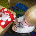 Spioniersäckchen Kinderspielzeug selber nähen kostenlos mit Schnittmuster und Nähanleitung
