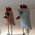 Dekoratives Huhn selber nähen kostenlos mit Schnittmuster und Nähanleitung