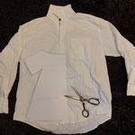 Upcykling altes Herrenhemd wird zum Kinderkleid