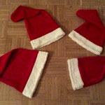 Weihnachtsmannmützen schnell und einfach selber genäht