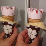 Eistütenhalter selber nähen kostenlos mit Schnittmuster und Nähanleitung