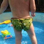 Badehose Planschespaß von Frau Käferin mit kostenlosem Schnittmuster und Nähanleitung