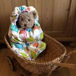 Teddyfußsack/Teddyschlafsack selber nähen kostenlos mit Schnittmuster und Nähanleitung