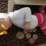 Frau Käferin bastelt und näht Tannenbäumchen