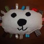 Labeltier LöwenBär Babyspielzeug selber nähen kostenlos mit Schnittmuster und Nähanleitung