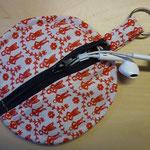 Kopfhörertasche selber nähen kostenlos mit Schnittmuster und Nähanleitung