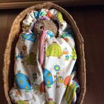 Freebook, kostenloses Schnittmuster mit Nähanleitung, Winterfußsack, Puppenfußsack Rita