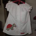 Aus altem Herrenhemd wird ein Kinderkleid, selber genäht von Frau Käferin