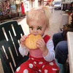 Urlaub in Nizza, großen Kekes essen