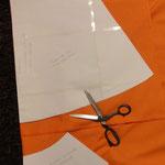 Freebook Raffirock von Frau Ollewetter: Stoff zuschneiden, genäht von Frau Käferin
