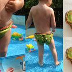 Freebook Badehose Badewindel Planschespaß von Frau Käferin mit kostenlosem Schnittmuster und Nähanleitung