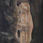 "Petra (1999). Watercolor, 12"" x 15"". Nicole Harper  ©"