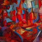 "Red Sonja (2009). Acrylic, 36"" x 60"". Nicole Harper ©"