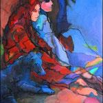 "Marketplace Figures (2009). Acrylic, 36"" x48 "". Nicole Harper ©"