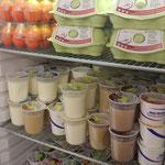 Grosse Auswahl an Milchprodukten