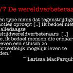 Wouter Mensink - 2. De wereldverbeteraar/Larissa MacFarquhar