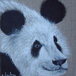 """""""Panda de profil"""" - acrylique """" 20 x 20 cm"""